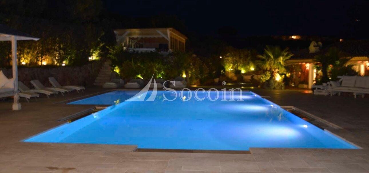Villa in affitto a Porto Rotondo con piscina vista mare