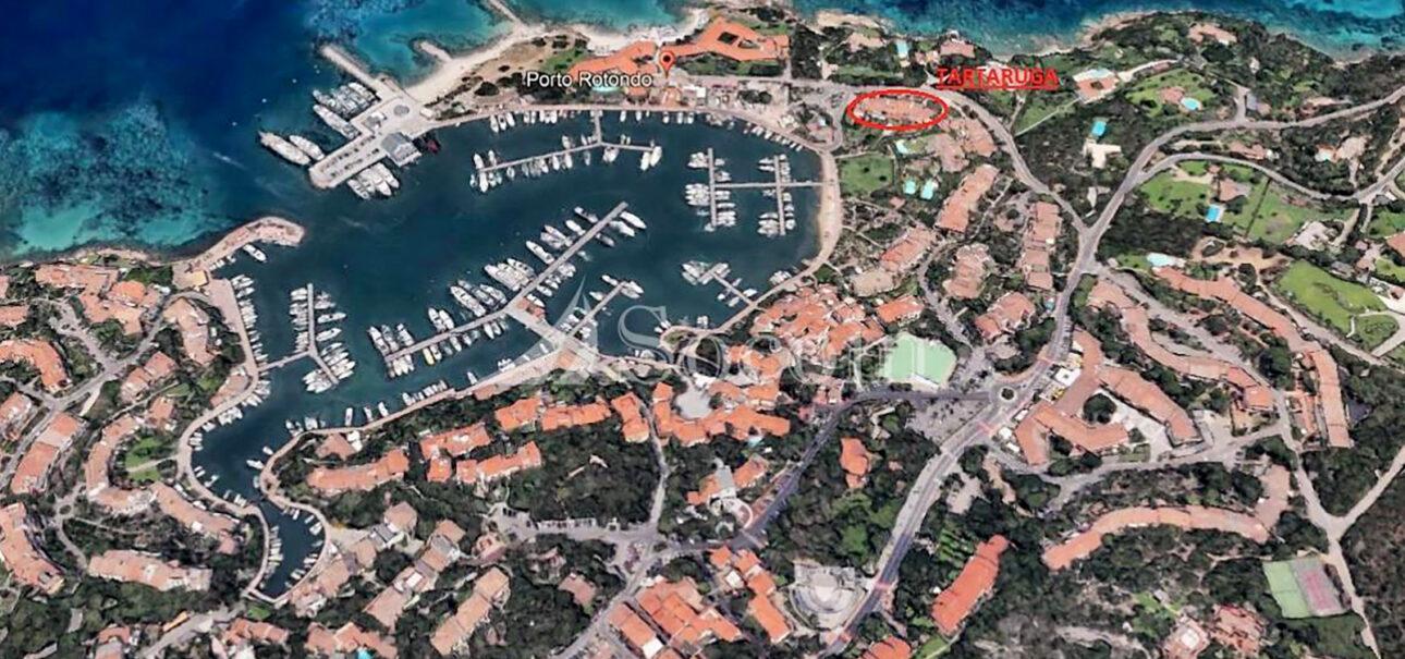Pentalocale in affitto a Porto Rotondo vista sul porto